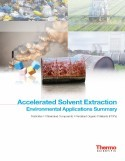 Accelerated Solvent Extraction Environmental Applications Summary Notebook: Pesticides, Chlorinated Compounds, POPs