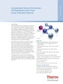 Accelerated Solvent Extraction of Plasticizers from Polyvinyl Chloride Polymer