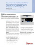 Accurate and Precise Automated Dilution and In-line Conductivity Measurement Using the AS-AP Autosampler Prior to Analysis by Ion Chromatography