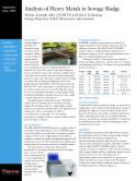 Analysis of Heavy Metals in Sewage Sludge, ARL QUANT'X