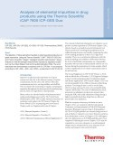 Analysis of elemental impurities in drug products using the Thermo Scientific iCAP 7600 ICP-OES Duo