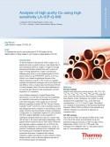 Analysis of high purity Cu using high sensitivity LA-ICP-Q-MS