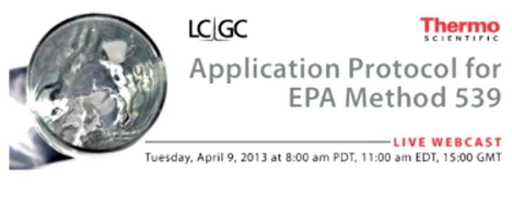 Application Protocol for EPA Method 539