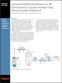 Automated H₂/H₂O Equilibration for δD Determination on Aqueous Samples Using Thermo Scientific GasBench II