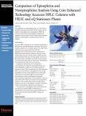 Comparison of Epinephrine and Norepinephrine Analysis Using Core Enhanced Technology Accucore HPLC Columns with HILIC and aQ Stationary Phases