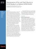 Determination of Free and Total Glycerin in B-100 Biodiesel via Method ASTM D6584