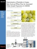 Determination of Pesticides in Grapes, Baby Food and Wheat Flour by Automated Online Sample Preparation LC-MS/MS