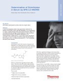 Determination of Zolmitriptan in Serum by SPE-LC-MS/MS
