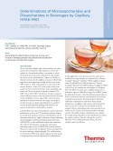 Determinations of Monosaccharides and Disaccharides in Beverages by Capillary HPAE-PAD