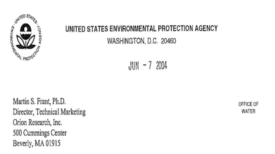 Epa method approval letter thermo orion ac4p72 total chlorine powder ww altavistaventures Image collections