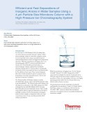 Efficient and Fast Separations of Inorganic Anions in Water Samples Using a 4 µm Particle Size Microbore Column with a High-Pressure Ion Chromatography System