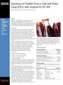 Extraction of Vanillin From a Cola Soft Drink Using SOLA with Analysis by GC-MS