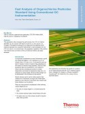 Fast Analysis of Organochlorine Pesticides Standard using Conventional GC Instrumentation