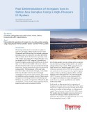 Fast Determinations of Inorganic Ions in Salton Sea Samples Using a High-Pressure IC System