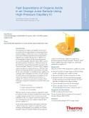 Fast Separations of Organic Acids in an Orange Juice Sample Using High-Pressure Capillary IC