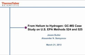 From Helium to Hydrogen: GC-MS Case Study on U.S. EPA Methods 524 and 525