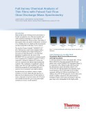 Full Survey Chemical Analysis of Thin Films with Pulsed Fast Flow Glow Discharge Mass Spectrometry