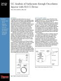 GC Analysis of Surfactants through On-column Injector with H.O.T. Device
