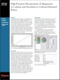 High Precision Measurement of Magnesium to Calcium and Strontium to Calcium Elemental Ratios