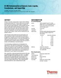 IC-MS Determination of Anionic Ionic Liquids, Counterions, and Impurities