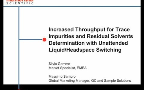 Increasing Throughput in USP Method 467 with Automated Liquid/Headspace Switching