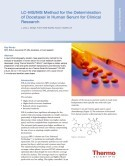 LC-MS/MS Method for the Determination of Docetaxel in Human Serum for Clinical Research