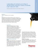 Lubricating oil analysis according to ASTM D5185 using the Thermo Scientific iCAP 7400 ICP-OES