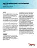 Methods for Determining Sugars and Hydroxymethylfurfural in Biomass