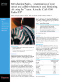 Petrochemical Series - Determination of Wear Metals and Additive Elements in Used Lubricating Oils
