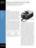 Polymer Cross-linking Analysis by NIR: Avoiding Hazardous Solvents