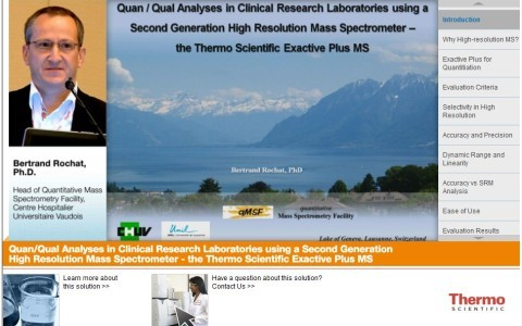 Quan/Qual Analyses in Clinical Research Laboratories using a Second Generation High Resolution Mass Spectrometer