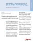 Quantitation of 6-Monoacetylmorphine in Urine for SAMHSA-Mandated Workplace Drug Confirmation Testing