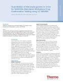 Quantitation of Benzoylecgonine in Urine for SAMHSA Mandated Workplace Drug Testing Using a Triple Stage Quadrupole LC-MS System