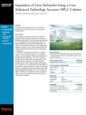Separation of Urea Herbicides using a Core Enhanced Technology Accucore HPLC Column