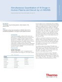 Simultaneous Quantitation of 19 Drugs in Human Plasma and Serum by LC-MS/MS