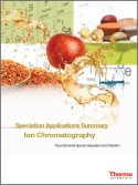Speciation Applications Summary Ion Chromatography