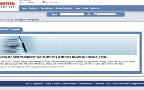 Using Ion Chromatography (IC) for Drinking Water and Beverage Analysis (8 min.)