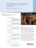 Validated Method for the Determination of Phenylbutazone in Horse Meat with LC-MS/MS