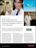 Water, Environmental and Pharma LIMS Solution Transforms Information Management at Nova Biologicals