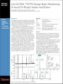 irm-GC/MS: ¹⁵N/¹⁴N Isotope Ratio Monitoring N-Acetyl O-Propyl Amino Acid Esters
