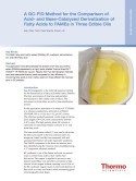 A GC-FID Method for the Comparison of Acid- and Base-Catalyzed Derivatization of Fatty Acids to FAMEs in Three Edible Oils