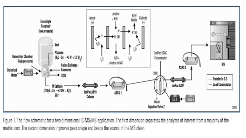 Analysis of Glyphosate and AMPA in Environmental Water by Ion Chromatography Electrospray Tandem Mass Spectrometry (IC-ESI-MS:MS)
