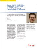 Sigma-Aldirch CMO Helps Customers Comply with 21 CFR Part 11 Using Chromeleon CDS Software