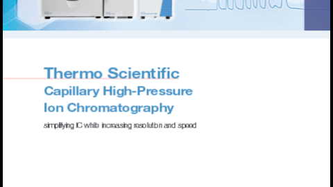 capillary high pressure ion chromatography guide1