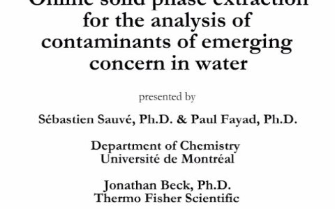 Analysis-of-Trace-Contaminants-of-Emerging-Concern-in-Water-Using-Online-SPE-LCMS