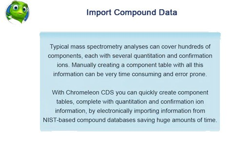 Chromeleon-CDS-Compound-Data-Import