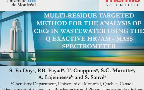 Multi-Residue Targeted Method for the Analysis of Contaminants of Emerging Concern in Wastewater Using the Q-Exactive Mass Spectrometer