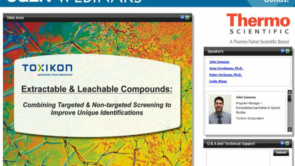 Extractable&LeachableCompounds-Toxicon